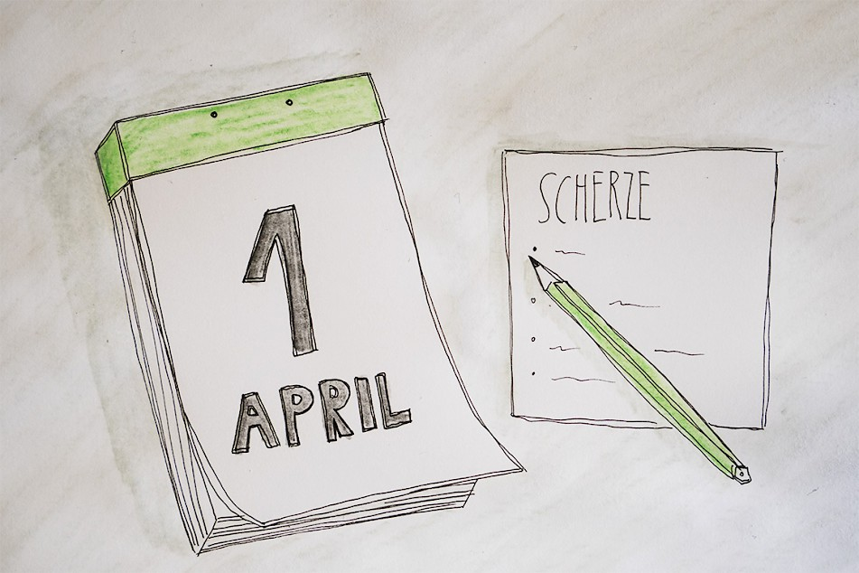 Landgefühl, Aprilscherze, Kalender, Illustration, Notizen